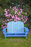 A blue garden chair. Stock Photos