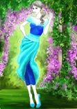 Blue Garden Fashion Stock Images