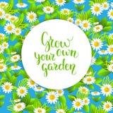 Blue garden seamless pattern Stock Photos
