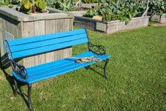Blue garden seat. Stock Image