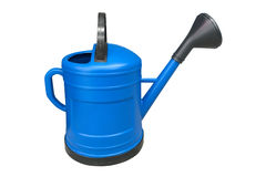 Blue garden watering can isolated on white background Royalty Free Stock Image