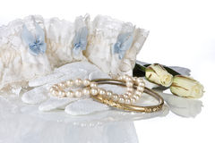 Blue garter Stock Images