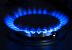 Blue gas royalty free stock images