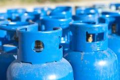 Blue gas balloons. Propane-butane Royalty Free Stock Photos