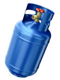 Blue gas container stock illustration