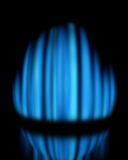 Blue gas flame. Burning on dark background, with reflection Royalty Free Stock Photos