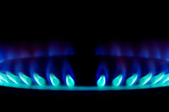 Blue gas flame Royalty Free Stock Photography
