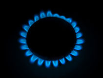 Blue gas stove Stock Image