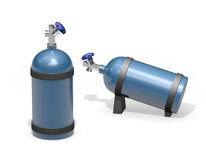 Blue gas tank metal container Royalty Free Stock Image