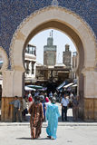 The Blue Gate. (Fez, Morocco Royalty Free Stock Images