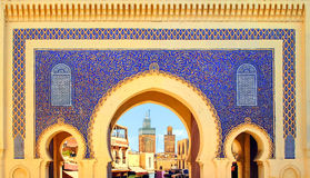 Free Blue Gate Bab Boujelud In Fes, Morocco Royalty Free Stock Photography - 62961367