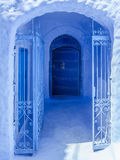 Blue gate Royalty Free Stock Photo