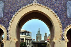 Blue Gate, Fes, Morocco Royalty Free Stock Images