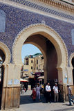 Blue Gate in Fez, Morocco Royalty Free Stock Image