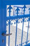 Blue gate Royalty Free Stock Photos
