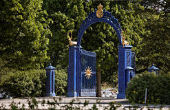 Blue Gate on the island of Djurgarden. Stockholm Royalty Free Stock Photos