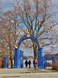 Blue Gate Stock Photography
