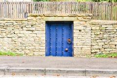 Blue gate Royalty Free Stock Image