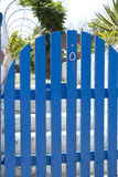 Blue gate Stock Photos