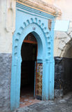 Blue gate, Tangier Royalty Free Stock Images
