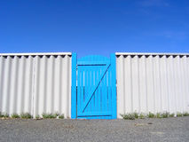 Blue gate to heaven Royalty Free Stock Photo