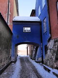 Blue Gate in Warsaw. Blue Gate in the old town of Warsaw, Poland royalty free stock photography