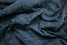 Blue gauze background. Blue old gauze textile background - top view Royalty Free Stock Images