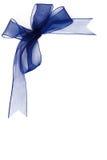 Blue Gauzy Bow Isolated On White Background Royalty Free Stock Photo