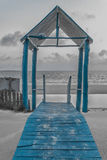 Blue Gazebo Royalty Free Stock Photos