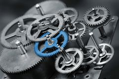 Blue gear Stock Images