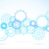 Blue gear abstract modern mechanical background Royalty Free Stock Images