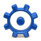 Blue gear icon. 3d illustration of blue gear icon Royalty Free Stock Image
