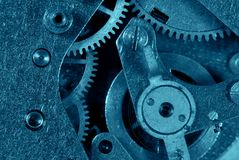 Blue gear machinery Stock Image