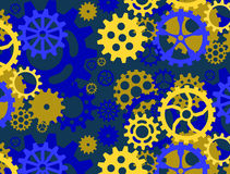 Blue gear pattern Stock Photos