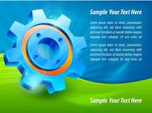 Blue gear & text Stock Photos