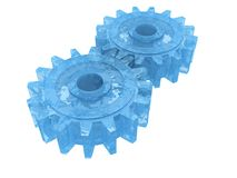 Blue gear wheel Stock Image