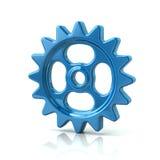 Blue gear wheel icon Royalty Free Stock Photos