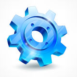 Blue gear on white Royalty Free Stock Images