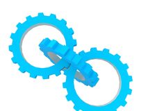 Blue gears Stock Photos
