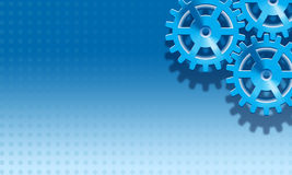 Blue Gears Background Stock Image