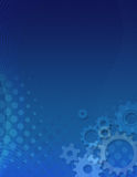 Blue gears background Royalty Free Stock Photo