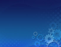 Blue gears background Stock Photography