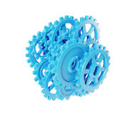 Blue gears and cogs Royalty Free Stock Photography