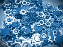 Blue gears Royalty Free Stock Photos