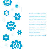 Blue gears on white background, Vector illustration Royalty Free Stock Image