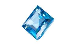 Blue gem isolated Royalty Free Stock Image