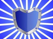 Blue Gem Studded Shield Royalty Free Stock Photo