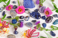 Blue gemstones Stock Photos