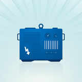 Blue generator Royalty Free Stock Photo
