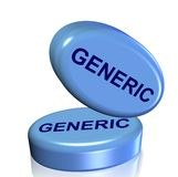 Blue generic drug Royalty Free Stock Photography